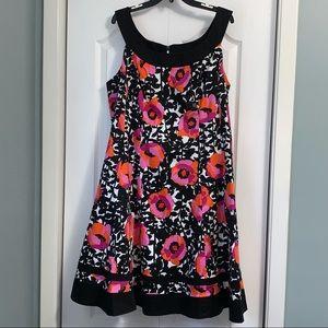 Jones Studio Floral Print Halter A-line Dress 18W